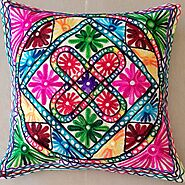 Handmade embroidery Cushion Cover