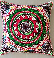 Indian Embroidery CUshion Cover 6