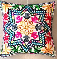 Indian Embroidery Cushion Cover 8
