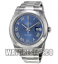 Replica Rolex Datejust II Blue Dial Stainless Steel Men's Watch 116300