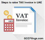 Steps to raise TAX invoice in UAE | GCCFilings