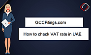 Check VAT rate in United Arab Emirates | GCC VAT FILINGS