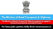 Advertisement for Ministry of Road Transport and Highways 2020