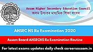 SEBA AHSEC HS Re Examination of Routine 2020 - Careers Assam