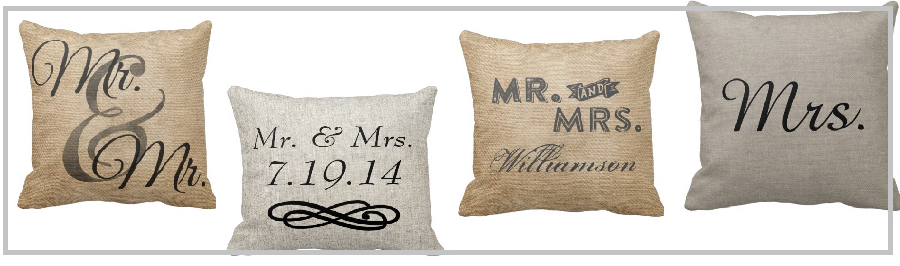 Headline for Best Mr and Mrs Burlap Throw Pillows - Decorative Customized Wedding Gift