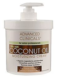 Advanced Clinicals Coconut Oil Cream. Spa size