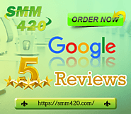 Buy Google My Business Reviews - SMM420 100% Non-drop