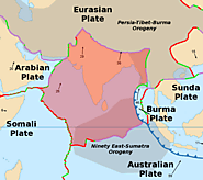 A map of the Indian plate