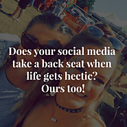 Does your social media take a back seat when life gets hectic? Ours too! - The Marketing Barn