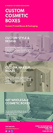 Custom Cosmetic Boxes - Packaging Boxes for Makeup