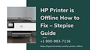 Why is Hp Printer Offline 1-8009837116 Hp Printer Not Responding -Instant Support