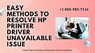 How to Fix Hp Printer Driver Unavailable 1-8009837116 Call Anytime