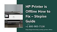 Quick Fix Hp Printer Offline 1-8009837116 Hp Printer Connect to WiFi