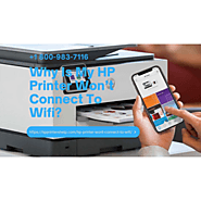 Hp Printer Won't Connect to WiFi 1-8009837116 Connect Hp Printer to WiFi