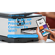 Get Instant Help to Fix Hp Printer Won't Connect to WiFi 1-8009837116 Call Now