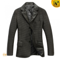 Mens Quilted Black Blazer Jacket CW874198 - CWMALLS.COM