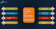 Important Dates and Events in January - DataFlair