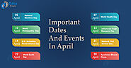 Important Dates and Events in April - DataFlair