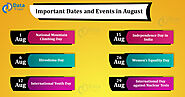 Important Dates and Events in August Month - DataFlair