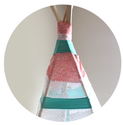 DIY No Sew Teepee For Less Than $30