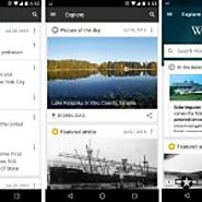 Wikipedia Redesigned With The New Apps