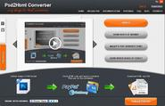 Automatic PSD to HTML/CSS online conversion - PSD to HTML Converter