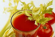 Tomato Celery Juice With Mint & Ginger