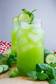 Cucumber Mint Juice - all natural summer cooler!
