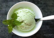 Mint Ice-cream - green, dairy-free, sugar-free!