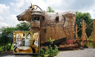 La Balade Des Gnomes: World's wackiest hotel where you can spend the night in a Trojan horse, a troll's lair and even...