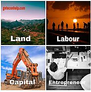 Factors of Production: Land, Labour, Capital and Entrepreneur in economics - Geteconhelp