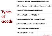 15 Different Types of Goods in Economics Explained - Geteconhelp