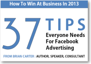 Free Ebook: 37 Facebook Advertising Tips | Brian Carter