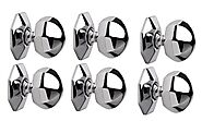 Hobknobs (Set of 6) Octagonal Chrome Plated Cabinet/Drawers Wardrobe Kitchen Pull Handle Knob 38mm (6): Amazon.in: Ho...