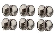 Hobknobs (Set of 6) Octagonal Satin Nickel Cabinet/Drawers Wardrobe Kitchen Pull Handle Knob 38mm (6): Amazon.in: Hom...
