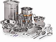 5057088 buy neelam stainless steel Premium 101 pc wedding dinner online at cheap prices in india amazon in 185px