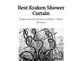 Best Kraken Shower Curtain