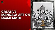 Creative Mandala artwork on Laxmi Mata
