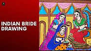 Indian Bride Drawing | Indian Bride Wedding | Art Lovers| Beautiful Art
