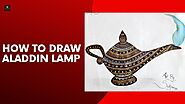 How to Draw Aladdin Lamp | Mandala Artwork on Aladdin Lamp