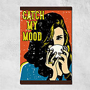 Wall hanging canvas Vintage Catch My Mood