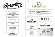 design a logo and branding board