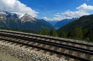 Photo: Train tracks with a stunning view