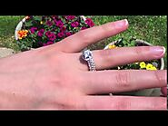 Round Halo Engagement Ring Bridal Set (0.93 Ct. Twt.) - TwoBirch