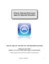iPhone, iPad and iPod touch Apps for (Special) Education