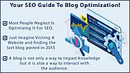 YOUR SEO GUIDE TO BLOG OPTIMIZATION!