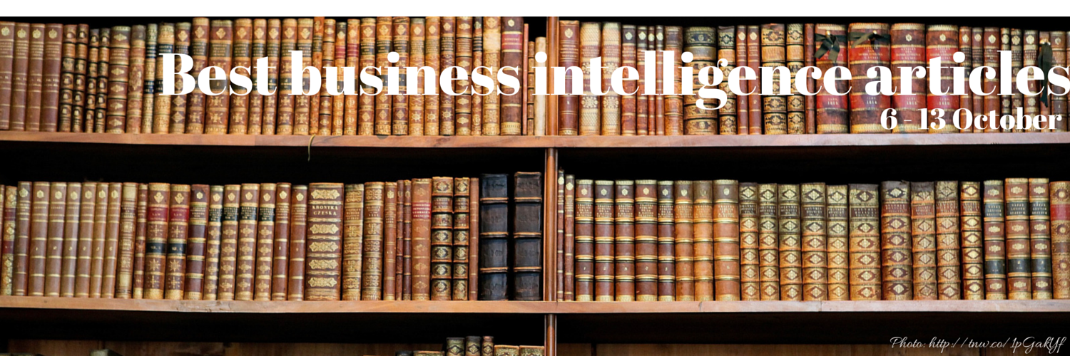 Headline for Best business intelligence articles, 6 - 13 October