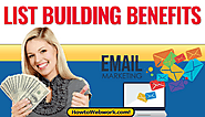What are the major benefits of building our own email lists? |