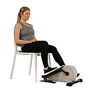 Sunny Health & Fitness Fully Assembled Magnetic Under Desk Elliptical – SF-E3872, Grey