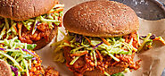 Jackfruit Barbecue Sandwiches with Broccoli Slaw | Forks Over Knives